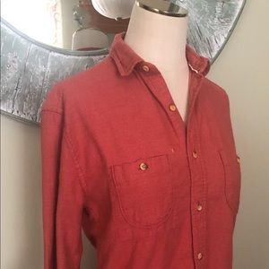 Women's Button up with unfinished hem
